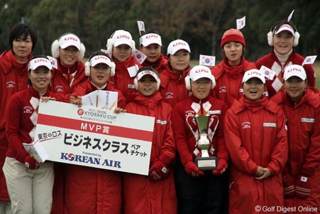 引き分けを挟み4連勝を達成した韓国チーム