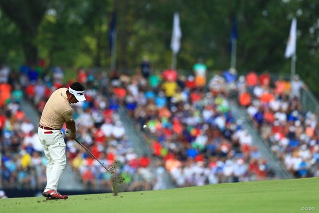 2018年 全米プロゴルフ選手権 最終日 池田勇太 全英オープンに続いて決勝ラウンドを戦った池田勇太は終盤に苦しんだ