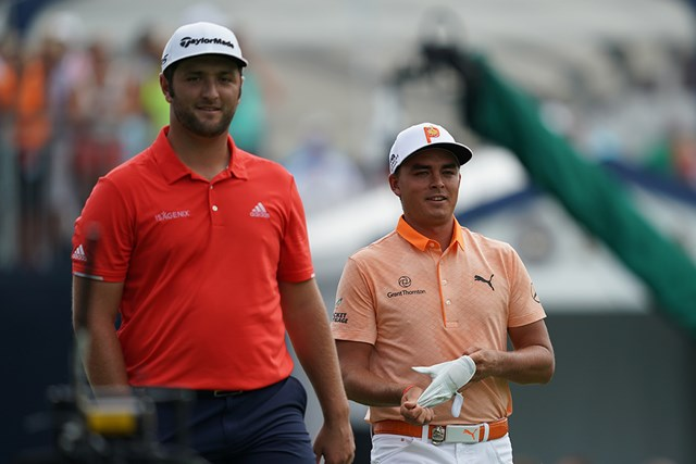 上位争いを演じた(写真左の)ラーム(Montana PritchardPGA of America via Getty Images)