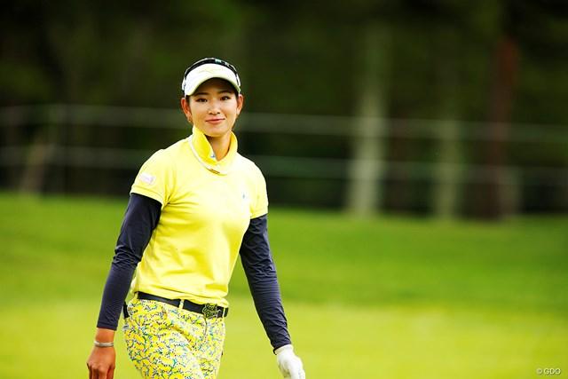 原英莉花は初の地元大会に臨む※撮影は「NEC軽井沢72ゴルフトーナメント」