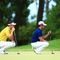 同じラインだね 2018年 RIZAP KBCオーガスタゴルフトーナメント 初日 キム・ヒョンソン