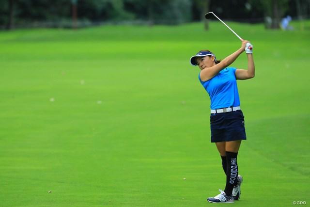 2018年 ニトリレディスゴルフトーナメント 3日目 有村智恵 ナイスカムバック賞を差し上げたい。