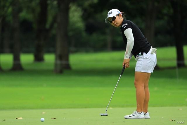 2018年 ニトリレディスゴルフトーナメント 3日目 比嘉真美子 何とか優勝戦線に踏み止まりましたね。