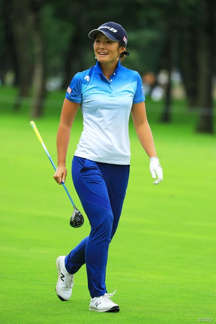 2018年 ニトリレディスゴルフトーナメント 3日目 渡邉彩香 最近、笑顔が多くて嬉しいです。