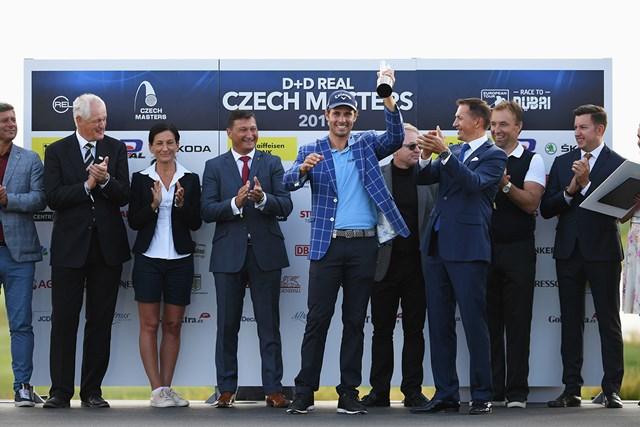 チェコでツアー初優勝を飾ったパバン(Ross KinnairdGetty Images)