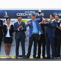 チェコでツアー初優勝を飾ったパバン(Ross KinnairdGetty Images) 2018年 D+D レアル チェコマスターズ 最終日 アンドレア・パバン