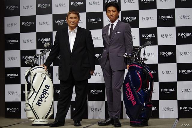 「絶対やらない」から300球練習へ 知られざるキムタクのゴルフ熱 ブランドアンバサダーを務めるビートたけしさん(写真左)と木村拓哉さん(同右)