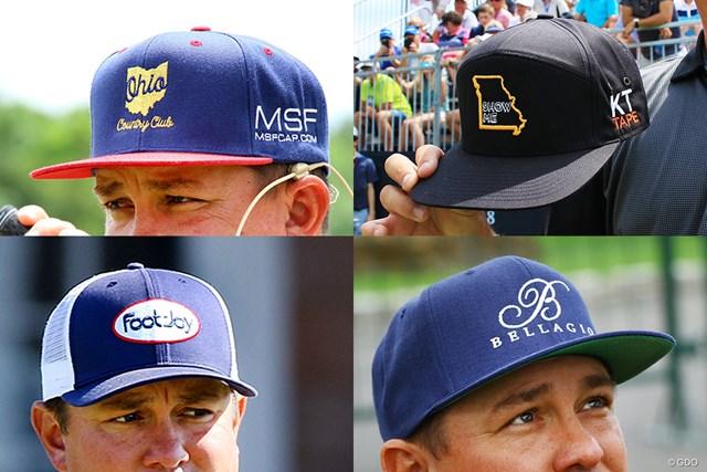 今年は大会によって様々なロゴ入りキャップを着用するJ.ダフナー