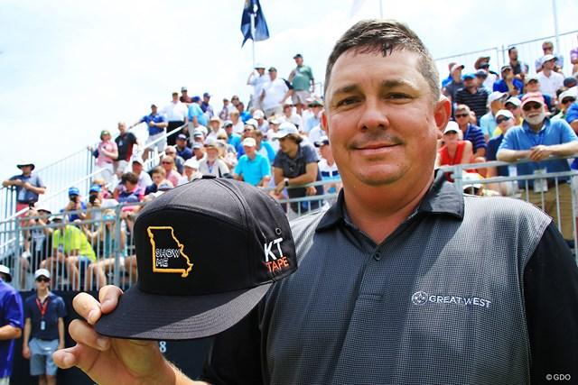 2018年 全米プロゴルフ選手権 ジェイソン・ダフナー 「全米プロ」ではミズーリ州のご当地キャップを着用