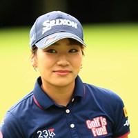 こんな顔してます、かわいいっしょ 2018年 ゴルフ5レディス プロゴルフトーナメント 2日目 安田彩乃