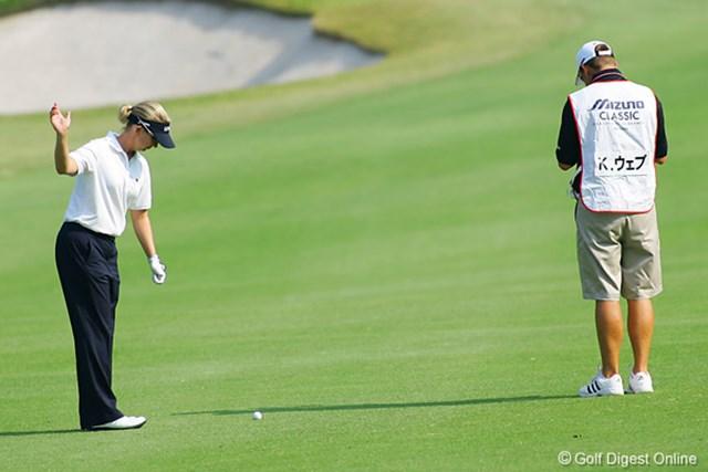 2006年 ミズノクラシック 2日目 カリー・ウェブ 徐々にゴルフもまとまってきて、リラックスした雰囲気の中にも、優勝を狙うオーラが見え隠れするカリー・ウェブ