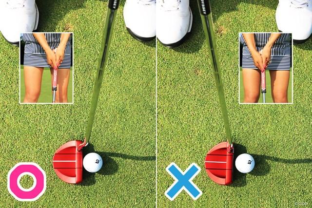 手の位置がボール前(飛球方向)で当たるように意識する