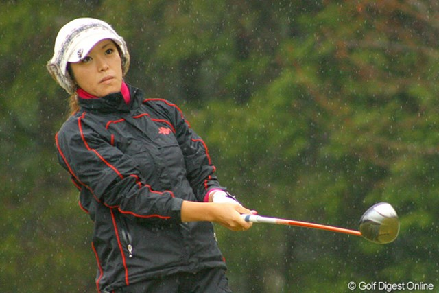 2009年 LPGA新人戦 最終日 甲田良美 同じく2位タイの甲田良美。今シーズンは下部ツアーで勝利を挙げるなど早くも頭角を見せ始めている