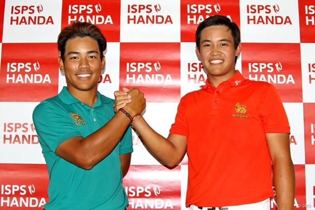 準決勝はタイ勢の対決に。23歳のR.ワナスリチャン(右)がベスト4に勝ち上がった。