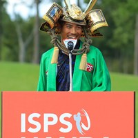 短くて簡単だったけど日本語で優勝スピーチ。 2018年 ISPSハンダマッチプレー選手権(3回戦・決勝) 最終日 タンヤゴーン・クロンパ