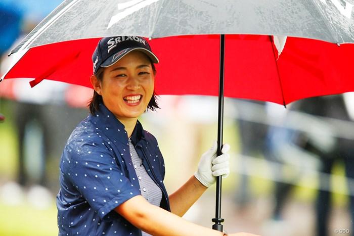 雨と傘と私 2018年 マンシングウェアレディース東海クラシック 初日 新海美優