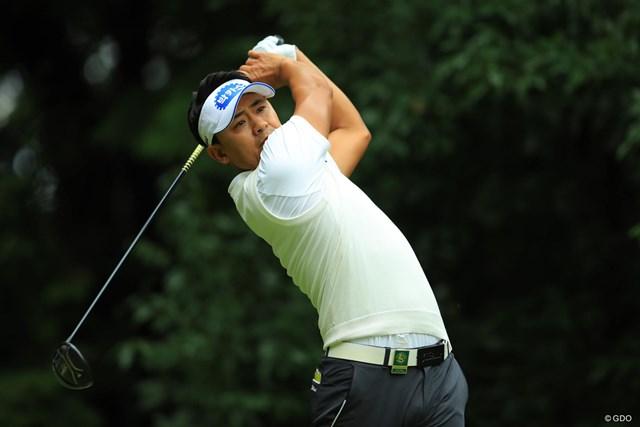 パク・サンヒョン 首位で決勝ラウンドに進出したパク・サンヒョン(※撮影は2017年「日本オープンゴルフ選手権競技」)