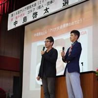 吉岡は小学3年時から中島啓太の指導をしてきた 2018年 吉岡徹治と中島啓太