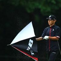 今日は傘が主役 2018年 アジアパシフィック選手権ダイヤモンドカップ 2日目 近藤智弘