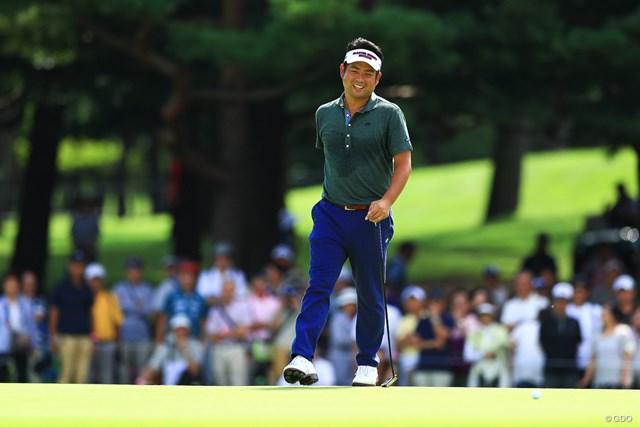 2018年 アジアパシフィック選手権ダイヤモンドカップゴルフ 最終日 池田勇太 笑顔の多いラウンドになった池田勇太。節目のツアー通算20勝目を挙げた