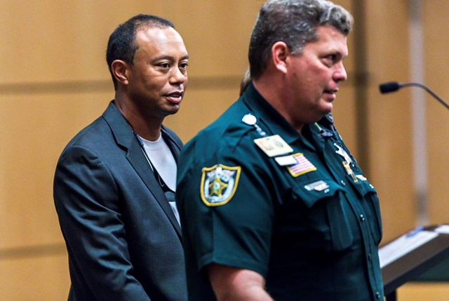 フロリダ州の裁判所に出廷するタイガー・ウッズ(Lannis Waters-Pool/Getty Images)