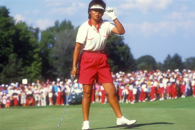 1987年の全米女子オープンでの岡本綾子 (Focus on Sport/Getty Images)