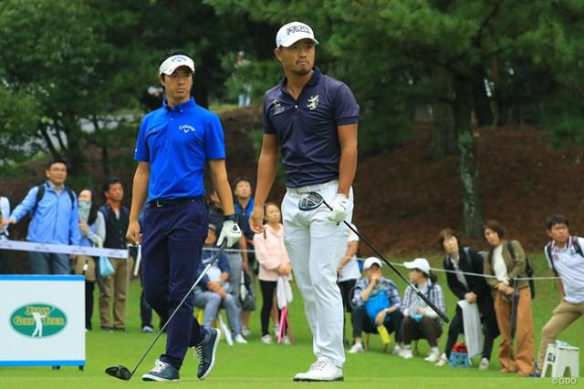 2018年 トップ杯東海クラシック 初日 石川遼&小平智 小平智と石川遼は予選ラウンド同組でプレー。初日は3アンダーと2アンダーで終えた