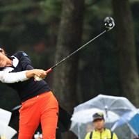 渡邉彩香は徹底したフェード打ちで4アンダー発進とした 2018年 日本女子オープンゴルフ選手権競技  初日 渡邉彩香
