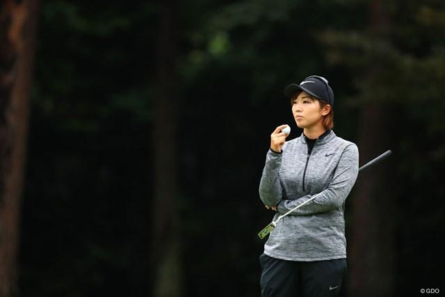 2018年 日本女子オープンゴルフ選手権競技 初日 葭葉ルミ 瞑想?
