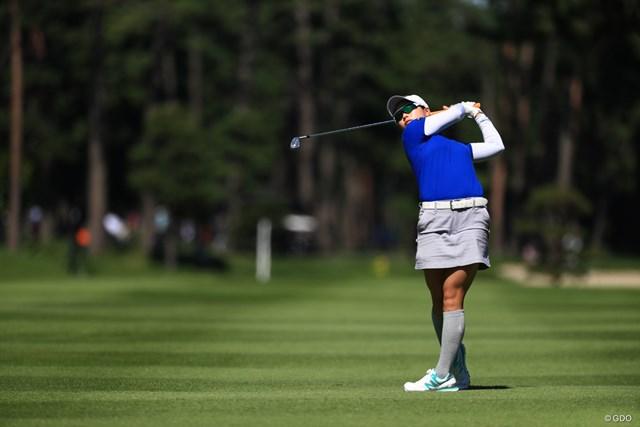 2018年 日本女子オープンゴルフ選手権競技 2日目 後藤未有 名前の由来は「未来が有るように」。アマチュアの後藤未有が上位に浮上した