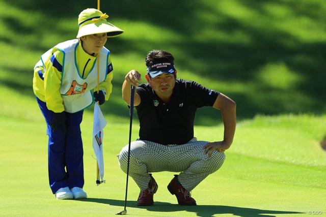 池田勇太は今週、コース所属のママさんキャディを起用している