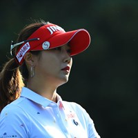 逆光にて 2018年 日本女子オープンゴルフ選手権競技 2日目 キム・ハヌル