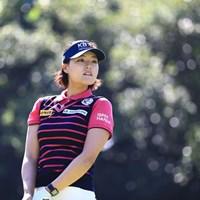 モデルポーズではなさそう 2018年 日本女子オープンゴルフ選手権競技 2日目 チョン・インジ