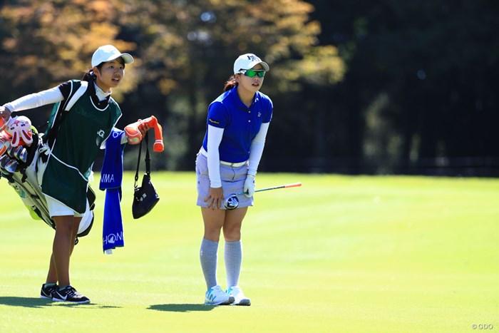 お辞儀 2018年 日本女子オープンゴルフ選手権競技 2日目 後藤未有