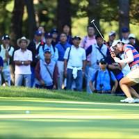 惜しい~ 2018年 日本女子オープンゴルフ選手権競技 2日目 大江香織