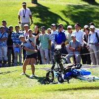 8番のこのアプローチはお見事でした 2018年 日本女子オープンゴルフ選手権競技 2日目 渡邉彩香
