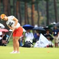 バーディーを狙う 2018年 日本女子オープンゴルフ選手権競技 3日目 後藤未有