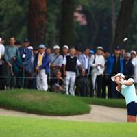 バンカーからですよ~ 2018年 日本女子オープンゴルフ選手権競技 3日目 フェービー・ヤオ