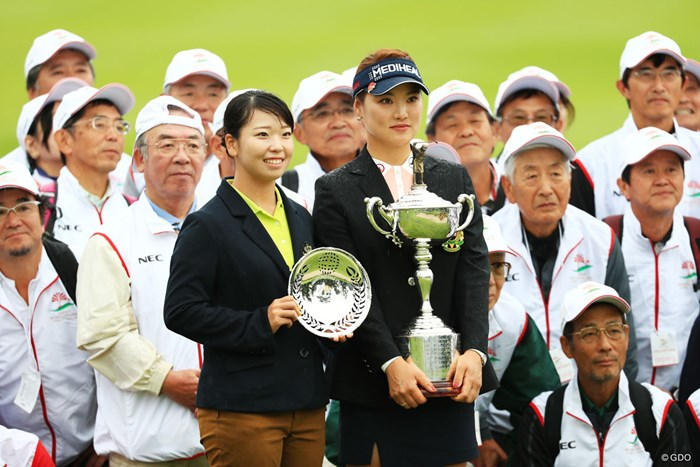 後藤未有(左)とユ・ソヨン 2018年 日本女子オープンゴルフ選手権競技 最終日 ユ・ソヨン