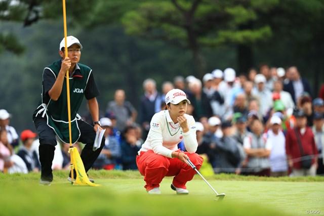 2018年 日本女子オープンゴルフ選手権競技 最終日 菊地絵理香 これで6年連続のトップ10。だが優勝は今年もお預けとなった