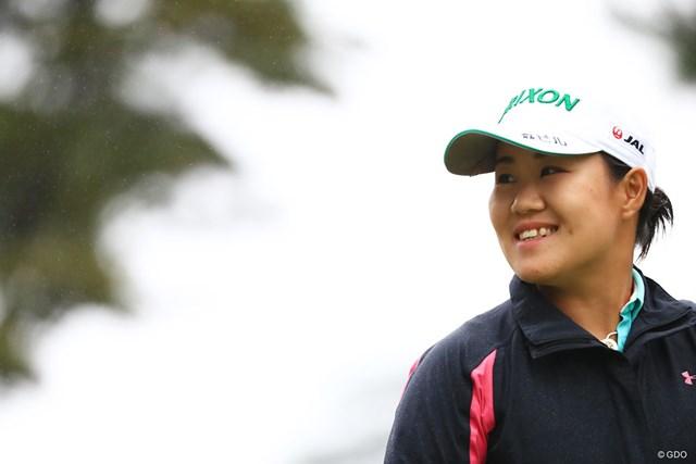 日本勢最上位の14位につける畑岡奈紗