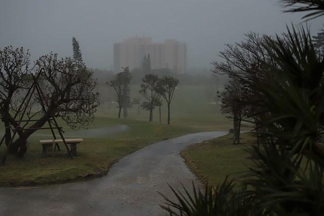 台風25号の接近に伴い、大会初日は中止となった(提供:日本女子プロゴルフ協会)