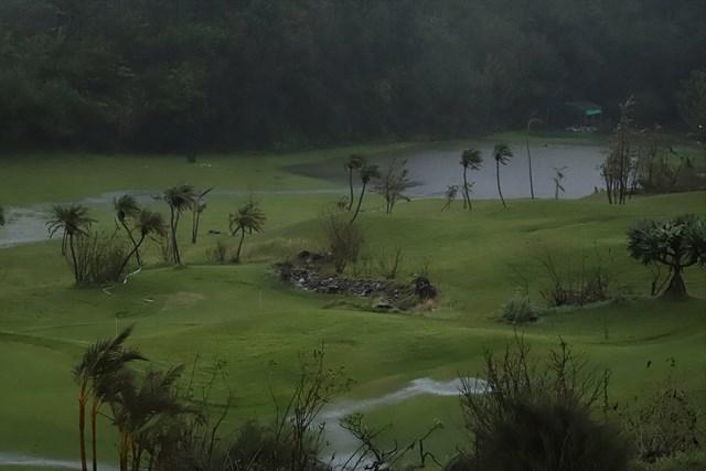 コース内の練習場も水没した(提供:日本女子プロゴルフ協会)