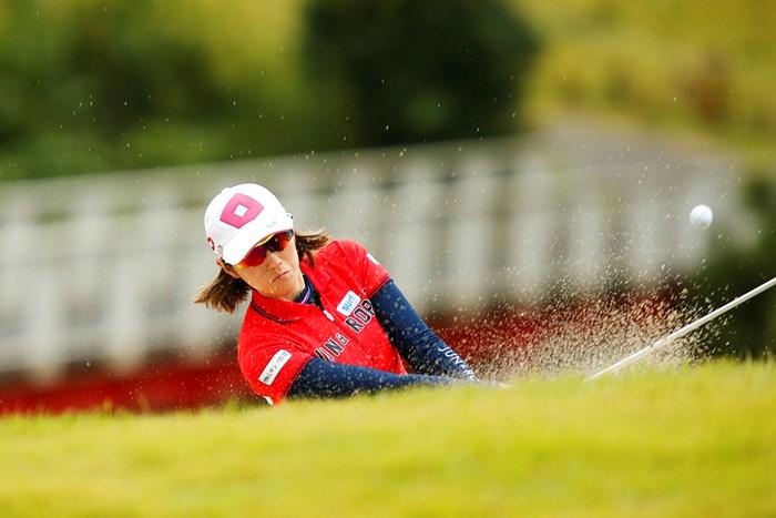 下が赤で上が白 2018年 スタンレーレディスゴルフトーナメント 初日 飯島茜