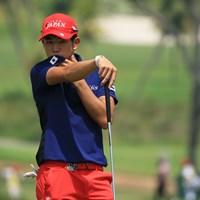 暑さに負けず、涼し気なプレーを続ける中島啓太 2018年 アジアパシフィックアマチュアゴルフ選手権 2日目 中島啓太