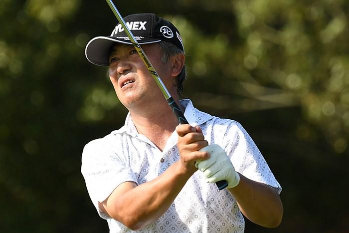米山剛が首位で最終日へ(提供:日本プロゴルフ協会) 2018年 日本プロゴルフシニア選手権大会 住友商事・サミットカップ 3日目 米山剛