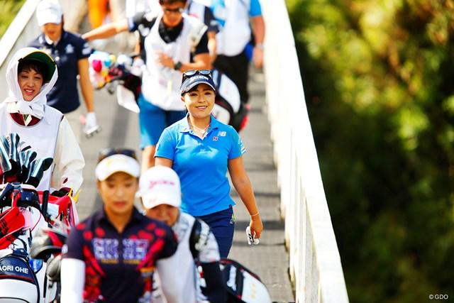 2018年 スタンレーレディスゴルフトーナメント 最終日 青木瀬令奈 6H ティショット後