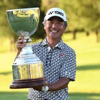シニア4年目で初のメジャータイトルを獲得した米山剛 ※写真提供:日本プロゴルフ協会 2018年 日本プロゴルフシニア選手権大会 住友商事・サミットカップ 最終日 米山剛