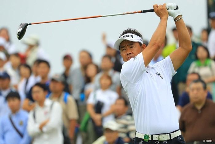 首位で初日を終えた藤田寛之 2018年 日本オープンゴルフ選手権競技 初日 藤田寛之