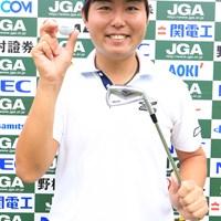 アルバトロスを達成した25歳の杉山知靖(写真は大会提供) 2018年 日本オープンゴルフ選手権競技 初日 杉山知靖